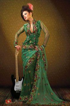 Thin Sarees   Sarees and Blouses Fashion: New saree blouse designs for thin women ...