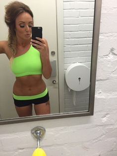 Body confident: Charlotte Crosby decided to show her fans the effects of her hard work by posting a photo of her newly slimline figure on Saturday