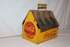 Rare Unusual Vintage 1940's Wood Coca Cola Soda Pop 6 Bottle Carrier Sign | Collectibles, Advertising, Merchandise & Memorabilia | eBay!