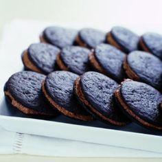 Chocolate Ganache Sandwiches -- easy 3-ingredient sandwich cookies