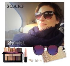 """""""Destin scarf"""" by trendcrossing on Polyvore featuring moda, Casetify, McQ by Alexander McQueen, MAC Cosmetics, travelling e Destinscarf"""