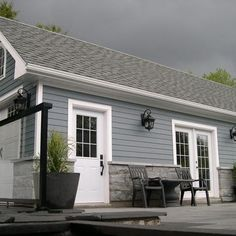 James Hardie Planks - color - BOOTHBAY BLUE