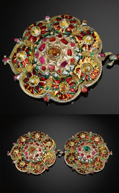 Turkey   Ottoman enamelled and gemset buckle   ca. 1700   30'000£ ~ sold (Apr '11)