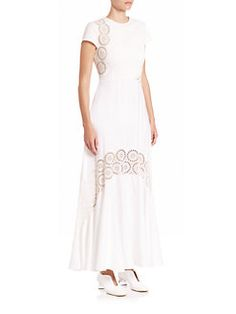 Stella McCartney - Lara Eyelet Embroidered Maxi Dress