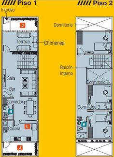 PLANO DE CASA DE 5m x 20m CON UN LOTE ADELANTE by planosdecasas.blogspot.com