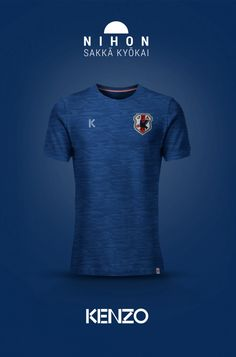National Football kits reimagined with Local Brand sponsorship by Emilio Sansolini - Japan x Kenzo Vintage Football Shirts, Soccer Shirts, Tee Shirts, Football Kits, Football Jerseys, Football Players, Sport Shorts, Sport T Shirt, Hugo Boss