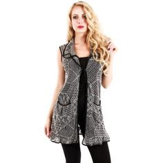 Woman's Grey Open-knit Sleeveless Top | Overstock.com Shopping - The Best Deals on Sleeveless Shirts