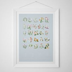 A1 AZ Edible Flowers Poster by FromTheFernery on Etsy