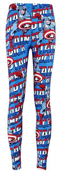 Women's Captain America Words Leggings