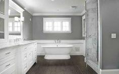 Romantic gray and white bathroom