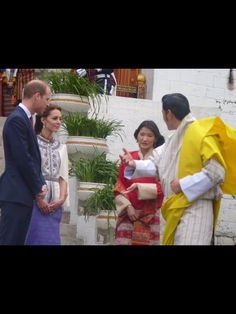 The royals leave the Dzong to have afternoon tea while watching an archery display - Day 5 Royal Visit Bhutan