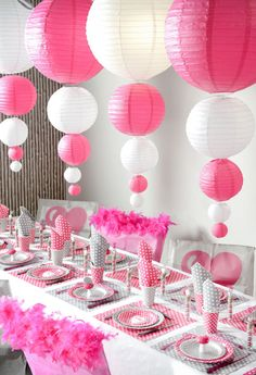 Not pink, but i like the paper lanterns