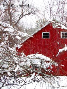 old red barn, I love these.