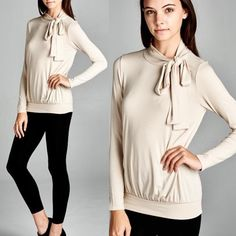 Bow Sweater Top True to size Bare Anthology Tops Tees - Long Sleeve