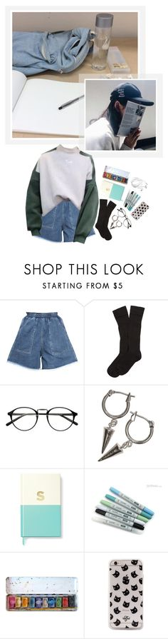 """""""Salt: drawing time"""" by kim-twins ❤ liked on Polyvore featuring Chicnova Fashion, Brooks Brothers, H&M, Kate Spade and Valfré"""