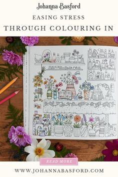 Colouring therapy is great for easing stress and clearing the mind. Coloring Tips, Colouring Pages, Coloring Pages For Kids, Adult Coloring, Coloring Books, Blending Colored Pencils, Colored Pencil Techniques, Joanna Basford, Johanna Basford Coloring Book