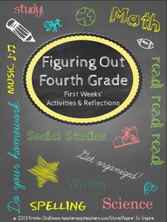 Engage your new students with these 10 thoughtful and creative activities! Application for an Amazing Year; First Days' Letter to Myself; MeTunes Activity; The Mystery and History of the Fortune Cookie Activities; Getting to Know Our Group Graphing Activity; The Life and Times of Me: What in the World Was Going On? Timeline Activity; Questions for the Teacher Activity; Fourth-Grade Fast Facts Flip Guide; and The Friendly Feud: Welcome to Class Edition PowerPoint Game and Instructions $