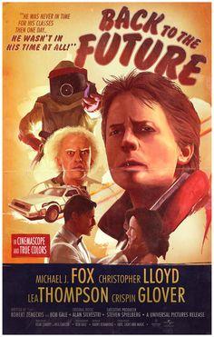 Back to the Future - movie poster - Nicolas Barbera