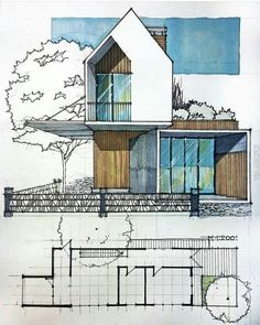 House Sketch Architecture Sketchbooks 39 Ideas For 2019 House Sketch Architectur. - House Sketch Architecture Sketchbooks 39 Ideas For 2019 House Sketch Architecture Sketchbooks 39 Id - Architecture Concept Drawings, Architecture Sketchbook, Contemporary Architecture, Contemporary Interior, Art And Architecture, Contemporary Chandelier, Contemporary Building, Contemporary Cottage, Contemporary Apartment