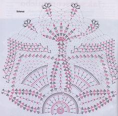 Home Decor Crochet Patterns Part 39 - Beautiful Crochet Patterns and Knitting Patterns Crochet Doily Diagram, Crochet Doily Patterns, Crochet Mandala, Crochet Chart, Filet Crochet, Crochet Designs, Crochet Doilies, Knitting Patterns, Crochet Fall