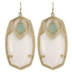 Kendra Scott Darby Earrings in Palm with Mother of Pearl