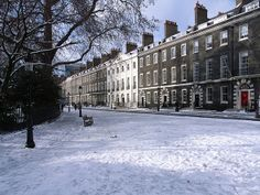 London, Bloomsbury & Fitzrovia, Bedford Square in Winter