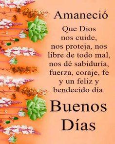 Good Morning Prayer, Morning Blessings, Morning Prayers, Morning Wish, Happy Day Quotes, Good Day Quotes, Good Morning Quotes, Life Quotes, Wish In Spanish