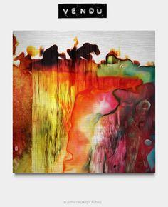 Estampe numérique signé Gohu Année : 2017 Format : 45 x 45 pouces (Abstrait - Vague - Couleur) Tsunami, Signs, Painting, Art, Printmaking, Abstract Backgrounds, Color, Photography, Craft Art