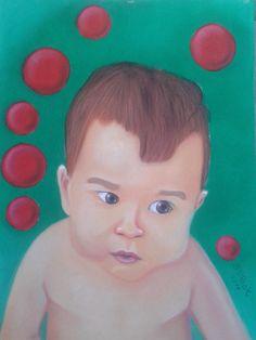 ''A boy''  50x70 cardboard, pastels.