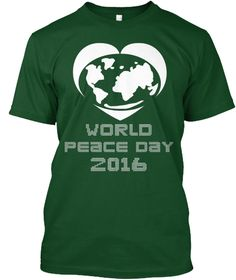World Peace Day 2016 Deep Forest T-Shirt Front