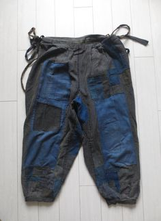Mujo Antique Japanese indigo boro workwear farmer pants / trousers www.etsy.com/shop/Mujostore