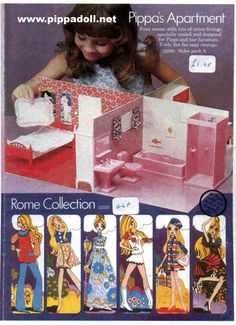Pippa Trade Catalogues. Why didn't we have this beautiful doll with her smart London fashions and accessories in the US?