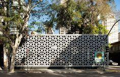 Gallery of Manish Restaurant / ODVO arquitetura e urbanismo + Mínima - 1 Manish, Islamic Architecture, Amazing Architecture, Restaurant Design, Restaurant Bar, Garage Cafe, Bar Design Awards, Outdoor Sofa, Outdoor Decor