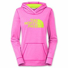Women's The North Face Fave-Our-Ite Pullover Hoodie | FinishLine.com | Azalea Pink Heather/Day Glow
