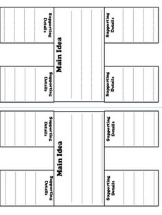 Main Idea Details Table - More Time 2 Teach - TeachersPayTeachers.com
