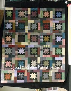 "Keeping You in Stitches: shirt quilt. Reminds me of""Lucky Stars"" by Terry Atkinson"