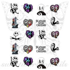 Nightmare Before Christmas Nail Art Jack Sally love Slides www.sweetworldofn… Many women prefer to attend the hairdresser even though they … Fall Nail Art, Nail Art Diy, Diy Nails, Christmas Nail Art, Holiday Nails, Christmas Clipart, Christmas Wedding, Christmas Ornaments, Jack Skellington
