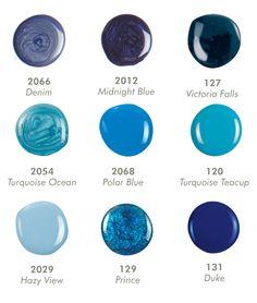 Blue Collection Shellac Colors, Cnd Shellac, Bio Sculpture Gel Nails, Funky Nails, Evo, Nails Inspiration, Pantone, Nail Ideas, Nail Designs