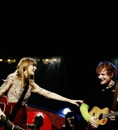 taylor swift & ed sheeran are touring together for RED!