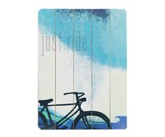Cuadro en madera de abedul Just ride - 35,6x50,8cm I | Westwing Home & Living