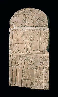 Limestone stele of Ptahsetji. New Kingdom. Late 18th dynasty – early 19th dynasty. 1400–1279 B.C. | The Museum of Fine Arts, Boston