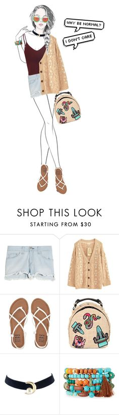 """""""Untitled #17"""" by fal-conquerry ❤ liked on Polyvore featuring rag & bone, Billabong, MSGM, GE, NAKAMOL, Rad+Refined, Summer, cool, jeanshorts and denimshorts"""