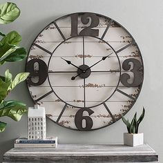 Our Metal Layered Dial over Shiplap Wall Clock features a shiplap design with a metal overlay. You'll love the timeless nature of this roman numeral clock face. Holly Springs, White Shiplap, Modern Farmhouse Decor, Farmhouse Chic, Ship Lap Walls, Wood And Metal, Black Metal, Metal Art, Wall Art Decor