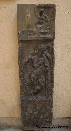 Stele of Roman fruit seller, Verona.