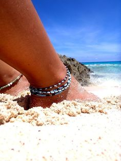 I'm sure this is my feet in the sand!  Not sure what beach but I'm lovin it!