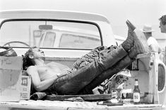 Steve McQueen sleeping in the back of his pick up truck, CA, 1963 photo © John Dominis / Time Inc. All Rights Reserved.