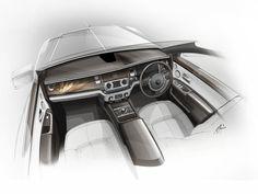 Rolls-Royce Bespoke Collection - Interior design sketch