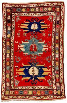 The Kimble Kazak Rug last quarter 19th century.