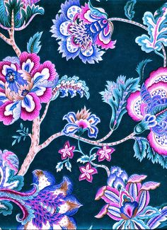 Zen-Paradox — acideyedrops: Teal green by ~jinifur Textile Prints, Textile Patterns, Textile Design, Flower Patterns, Fabric Design, Print Patterns, Motif Floral, Floral Prints, Pattern Art