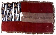Battle Flag of the 1st Kentucky Volunteers, Company E.  The 1st Kentucky, who fought at the Battle of Dranesville, received this flag in April 1861, near Moscow, Kentucky  (Museum of the Confederacy - MOC.org)